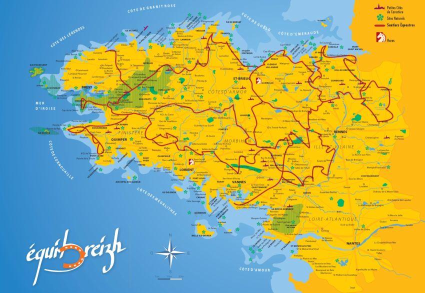 Carte Bretagne Randonnee.Catalogues De Randonnees Le Tourisme Equestre En Finistere La